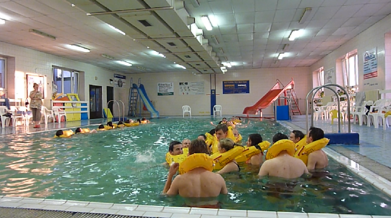 Výcvik na bazénu TVS