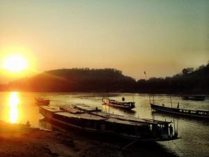 Západ slunce ve Vientiane