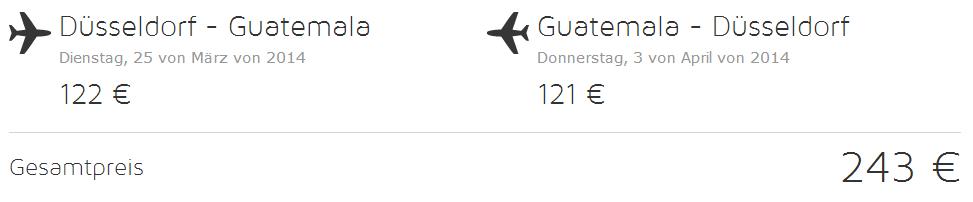 Zpáteční letenka z Německa do Střední ameriky