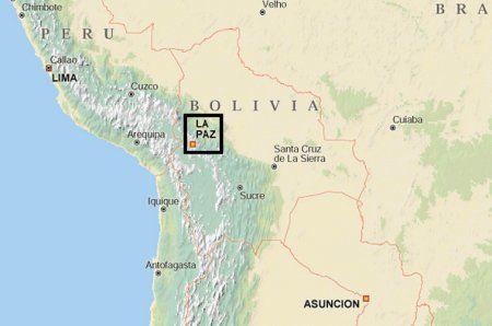 Yungas road se nachází na východě Bolívie