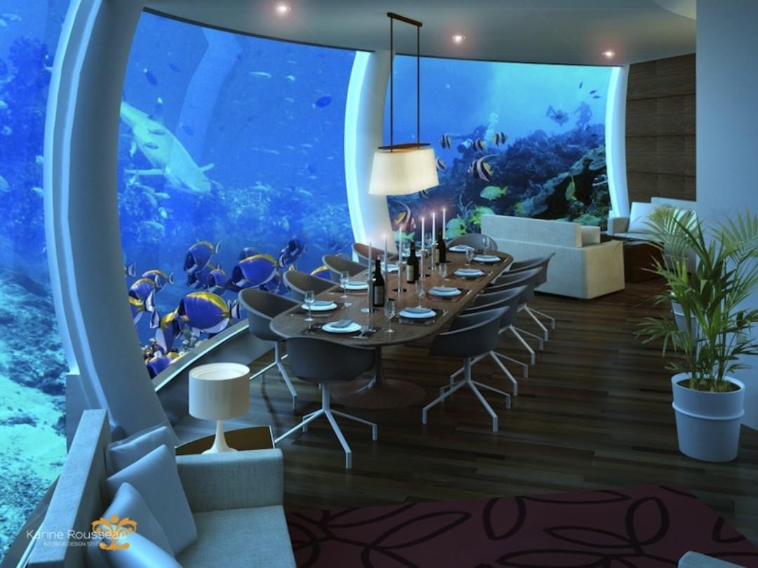 Restaurace, Poseidon podvodní resort, Zdroj: Propagační materiály Poseidon underwater resort