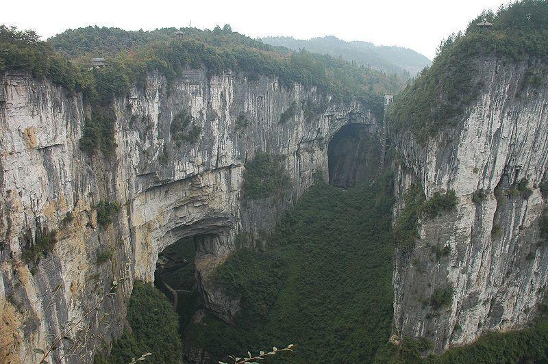 Wulong Karst přírodní most