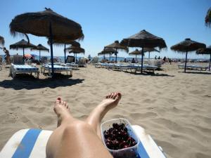 Lehárko na pláži