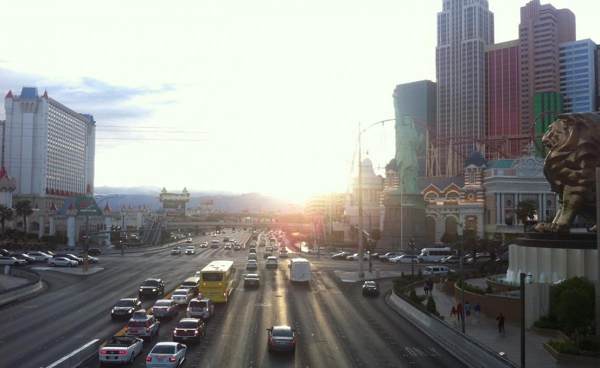 Slylish sunset in Las Vegas