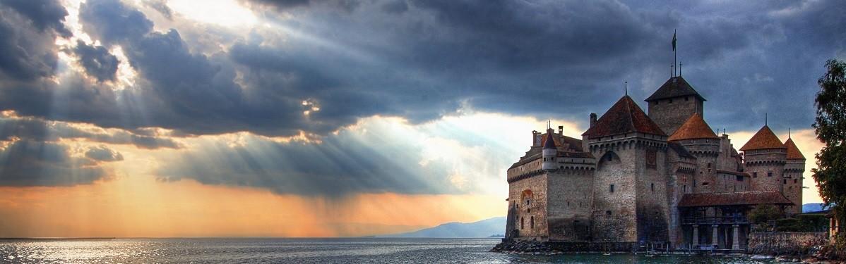 Hrad Chillon u města Montreux