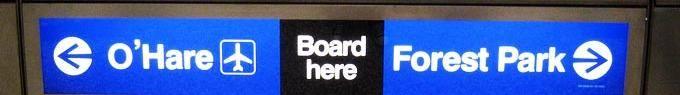 O´Hare modrá linka metra CTA