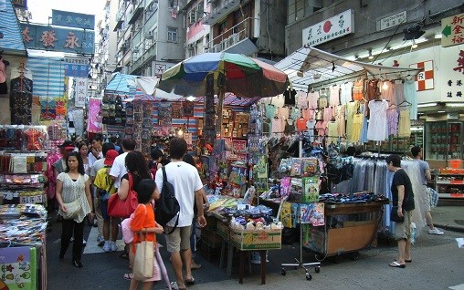 Pouliční trhy v Asii mají dlouhodobou tradici