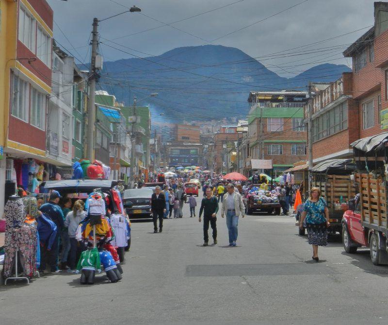 Rušná ulice v Bogotě