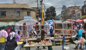 Pouliční prodej v Kolumbii