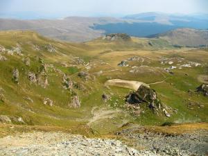 Výhled ze sedla Urdele ve výšce 2145 m. n. m.