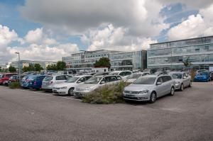 Parkoviště Ikarus parking u letiště v Mnichově