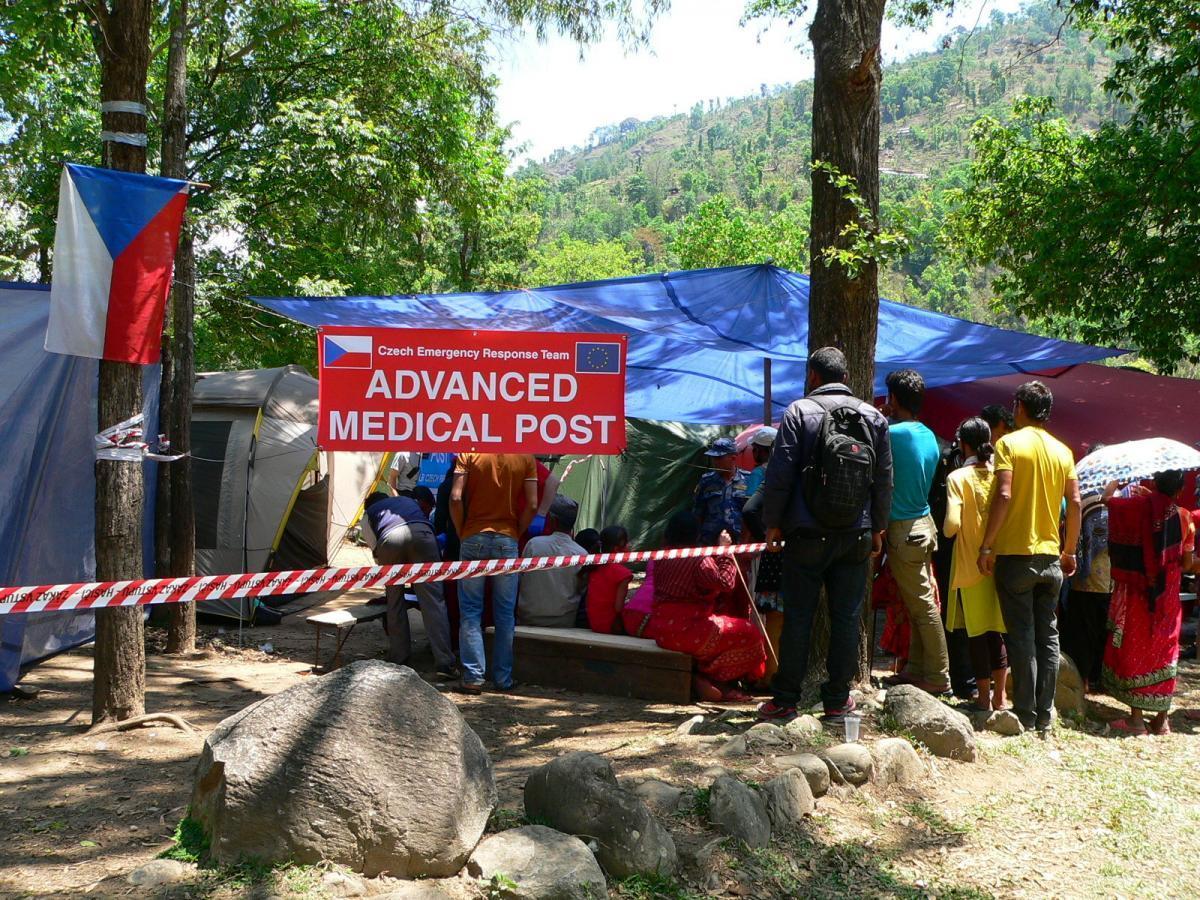 Nemocnice českých záchranářů v Melamchi