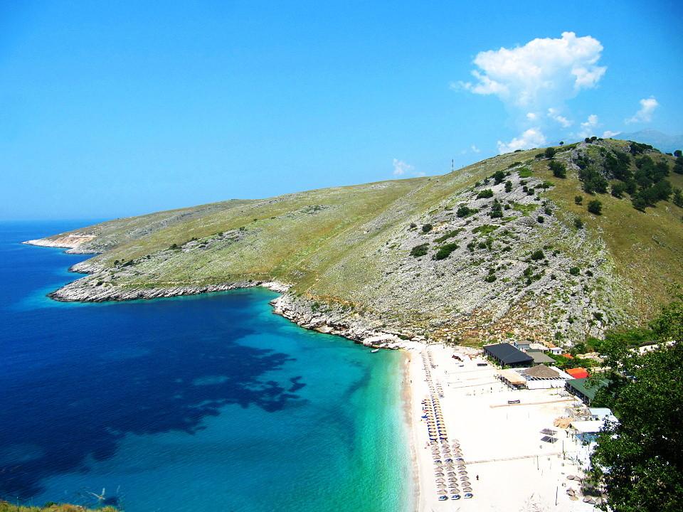 Nejkrásnější část albánského pobřeží