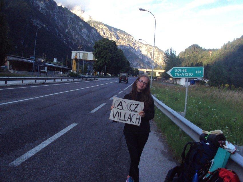 Stopujeme z Itálie před Tarvisiem