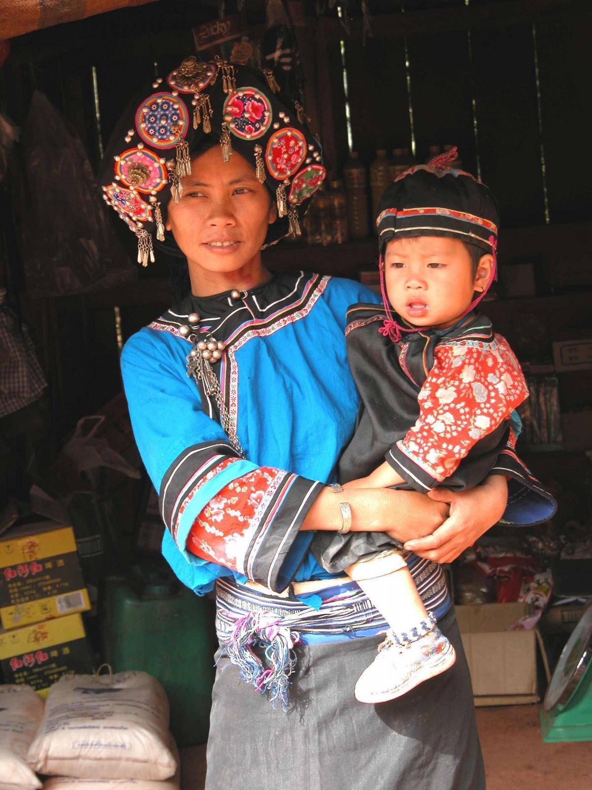 Laosanka s dítětem