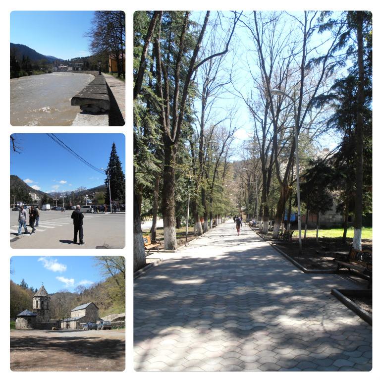 Městečko Borjomi a Green Monastery