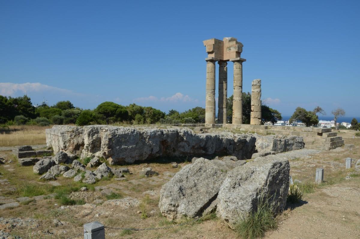 Starověký stadion s akropolí