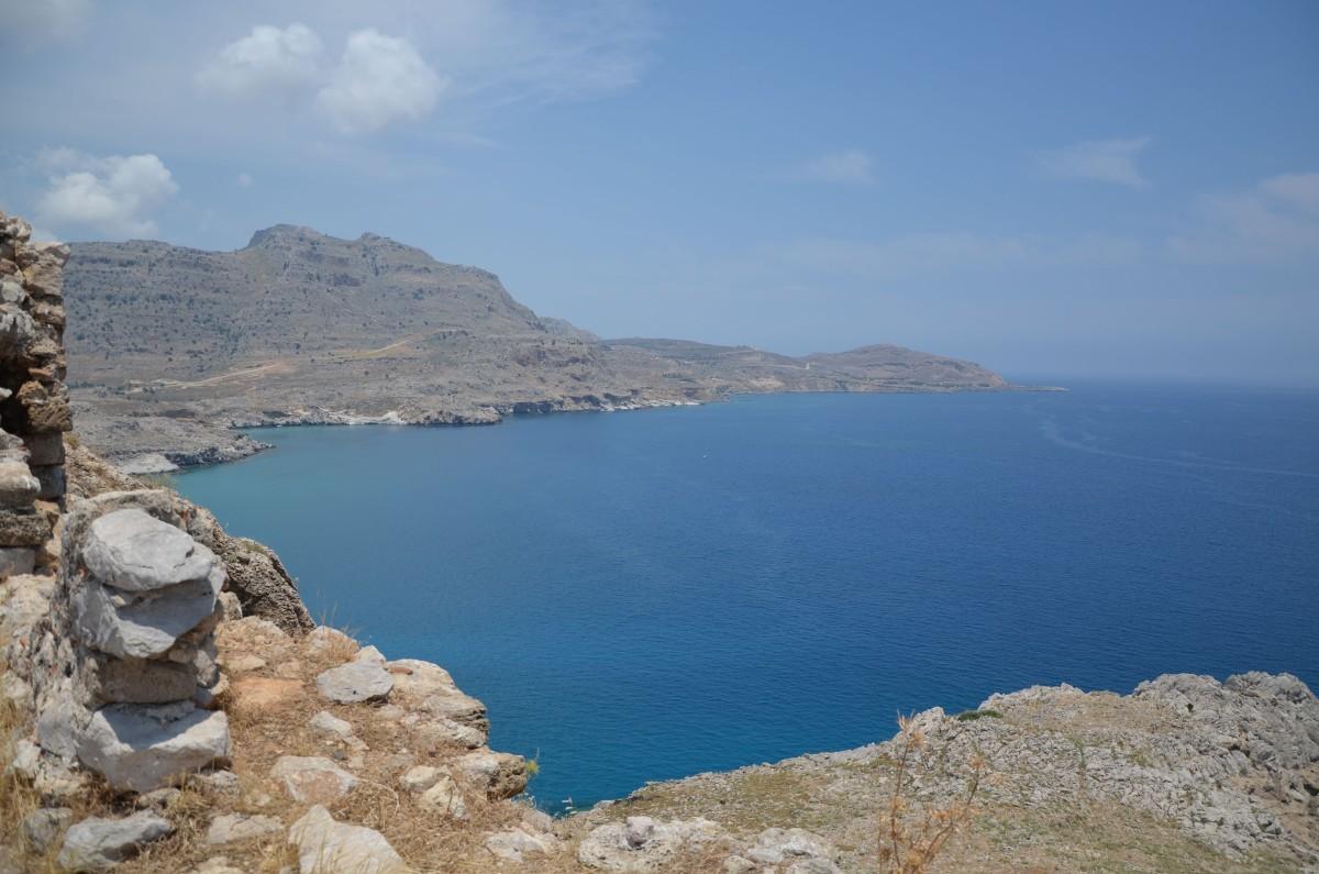 Výhled z hradu Feraklos