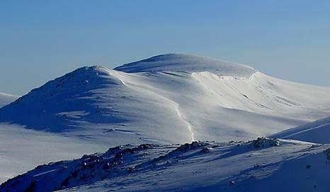 Hora Kosciuszko - nepatří mezi příliš atraktivní hory na pohled