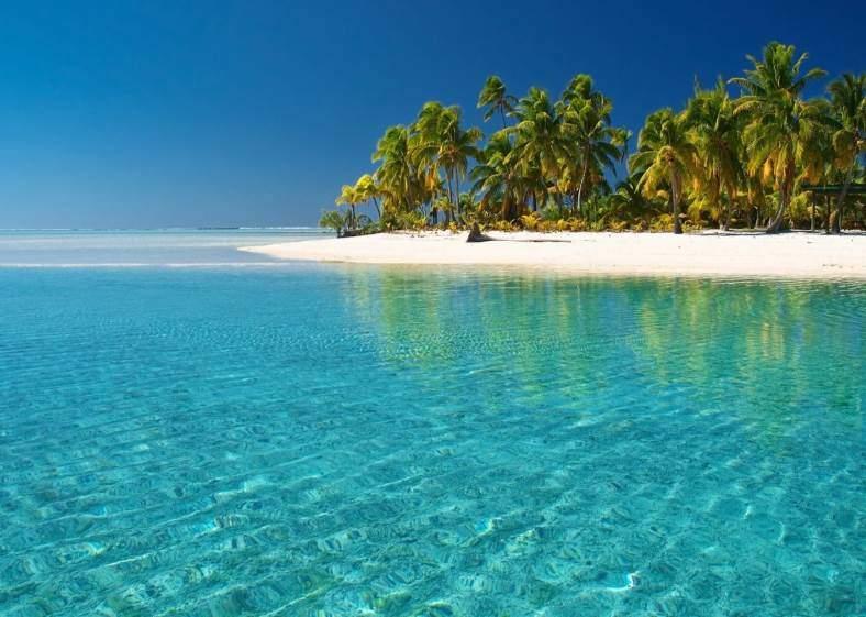 Pláž na Guadeloupe