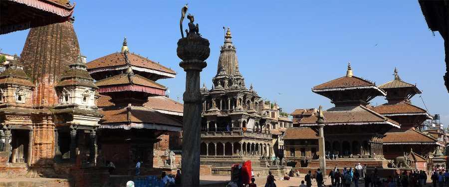 Město Patan v Nepálu