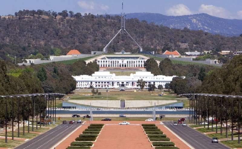 Canberra hlavní město Austrálie