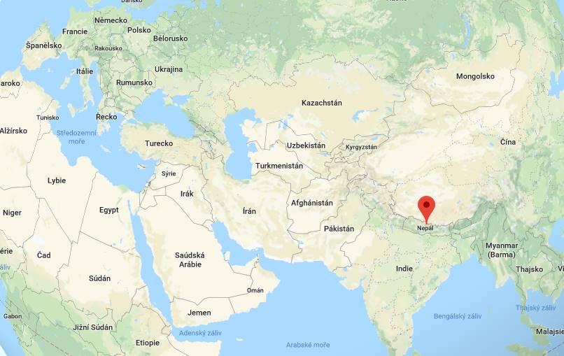 Kde leží a nachází se Nepál