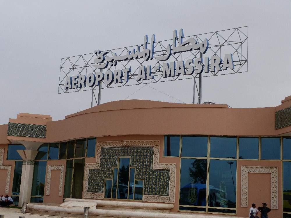 Přílet na letiště v Agadiru