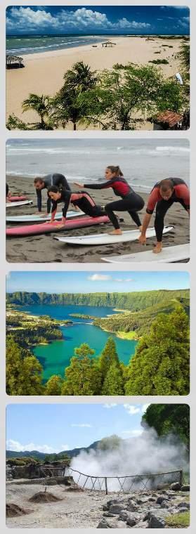 Krásy Azorských ostrovů - kromě krásné přírody je ostrov Sao Miguel rájem surfařů
