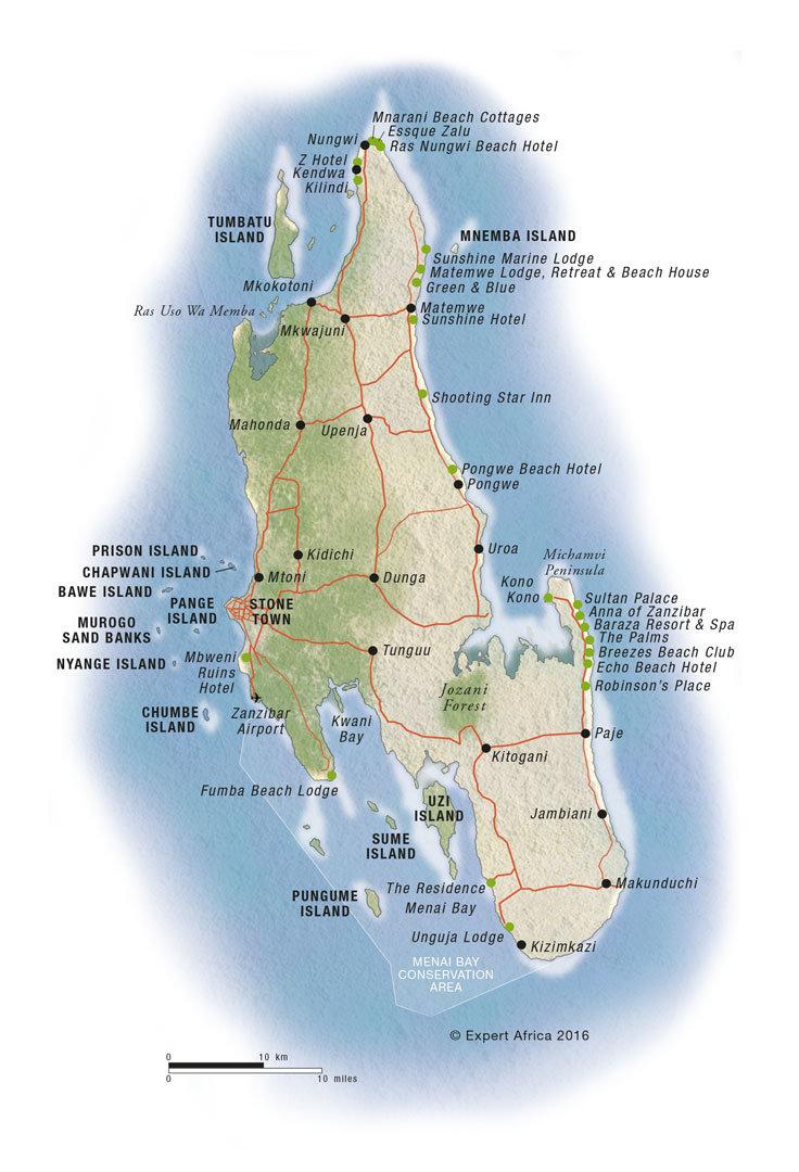 Zanzibar Mapa Kde Je Lezi Zanzibar Na Mape