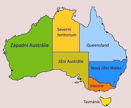 Austrálie na mapě