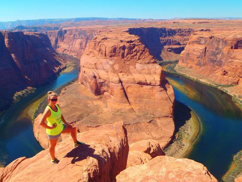 Zátoka řeky u Grand Canyonu