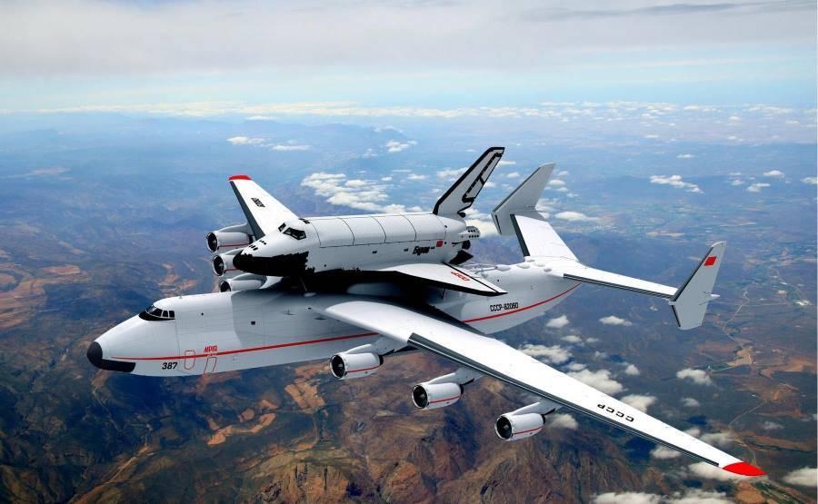 Antonov s raketoplánem Buran