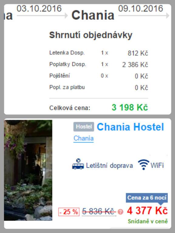 Letenka a ubytování na Krétě