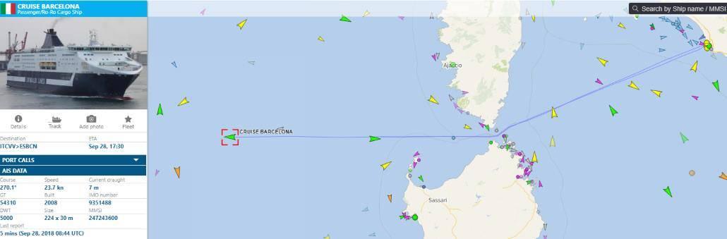 Lodní provoz online detail plavby