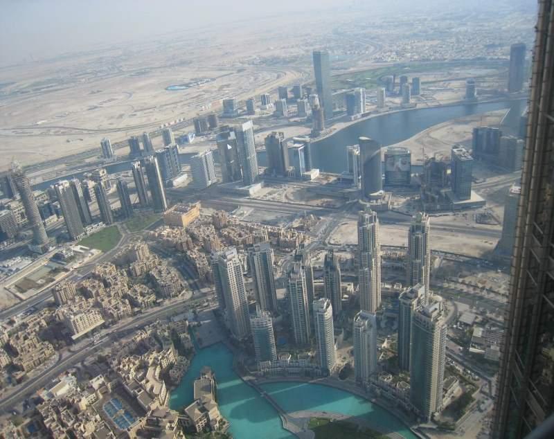 Pohled na Dubaj z Burj Khalify