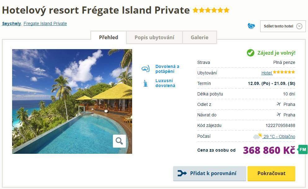 Seychely soukromý ostrov