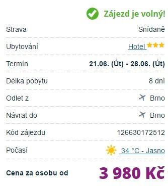Zájezd na Kypr Brno