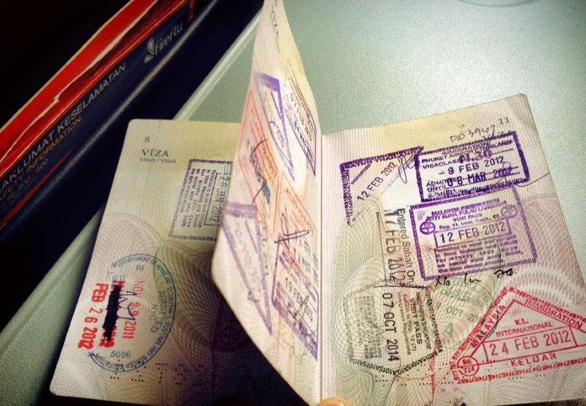 Cestovní pas - razítka