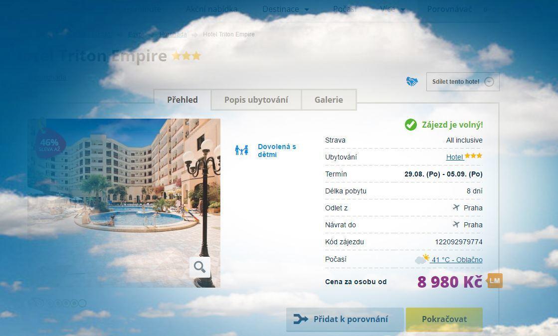 Hotel Triton Empire v egyptské Hurghadě