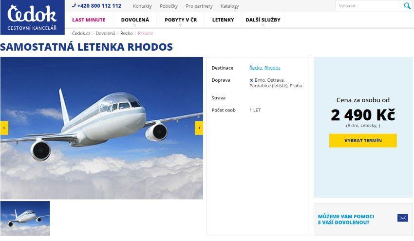 Letenka na Rhodos za 2 490 Kč
