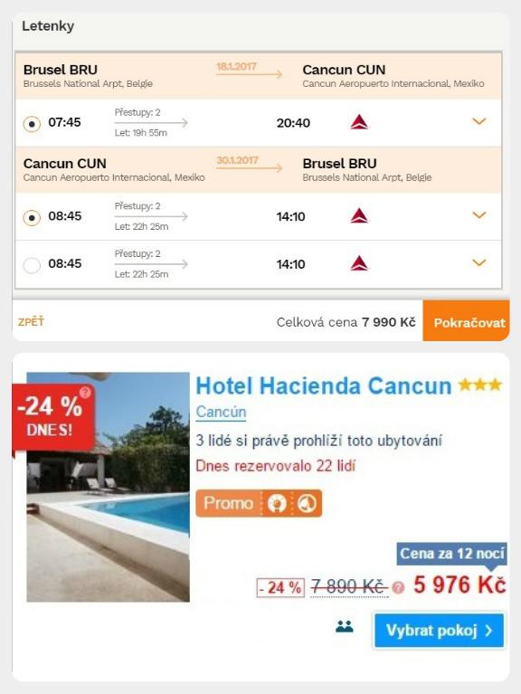 Letenka + ubytování v Mexiku na 12 dní