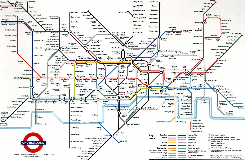 Metro v londýně trasy zóny