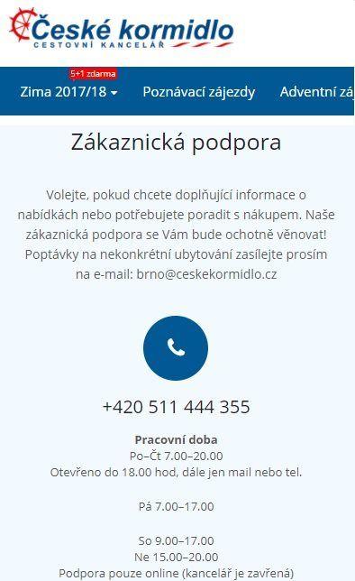 CK České kormidlo recenze
