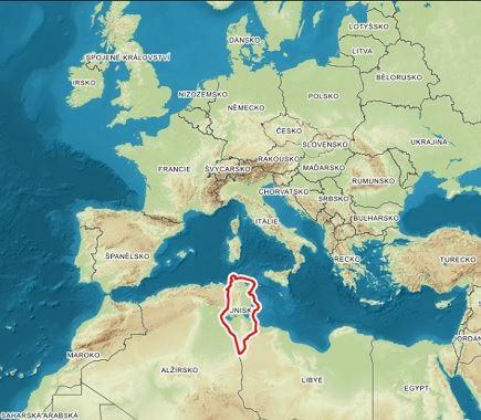 Tunisko Mapa Kde Je Tunisko Na Mape Sveta Ke Stazeni