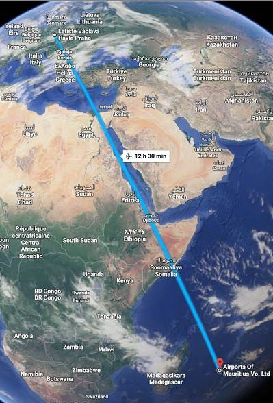 Doba letu Mauricius