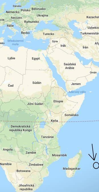 Kde leží Mauricius na mapě