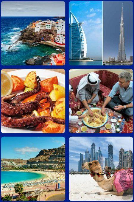 Krásy Kanárských ostrovů a Spojených arabských emirátů