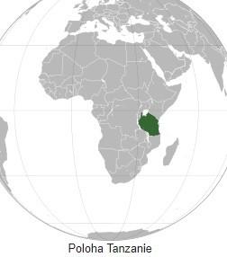 Mapa Tanzánie