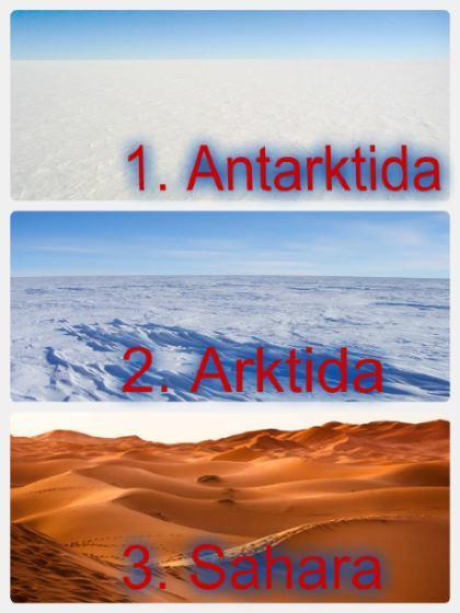 Největší pouště na celém světě